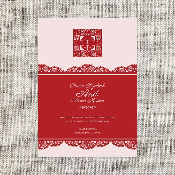 105 besten Chinese wedding invites Bilder auf Pinterest