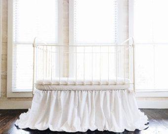 White Crib Skirt - White Ruffled Crib Skirt - Baby Girl Crib Skirt - Boy Crib Skirt - Ruffled Crib Skirt - Crib Skirt Girl - Crib Skirt Boy #babygirlskirts