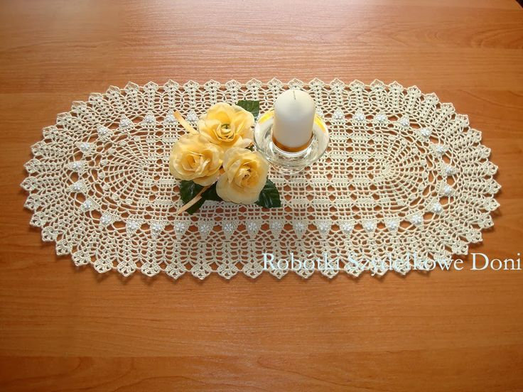Красивые салфетки крючком от польской рукодельницы Дони