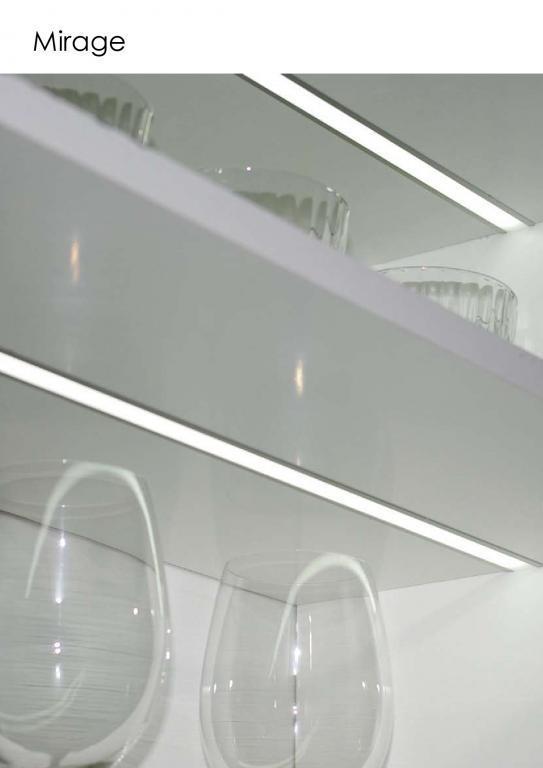 Regleta de luz Led blanca para encastrar modelo Mirage. varias medidas disponibles. Con interruptor IR, encendido mediante sensor. Transformador incluido.
