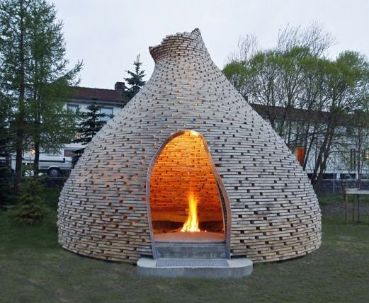 Feuerstelle in Iglu-Form