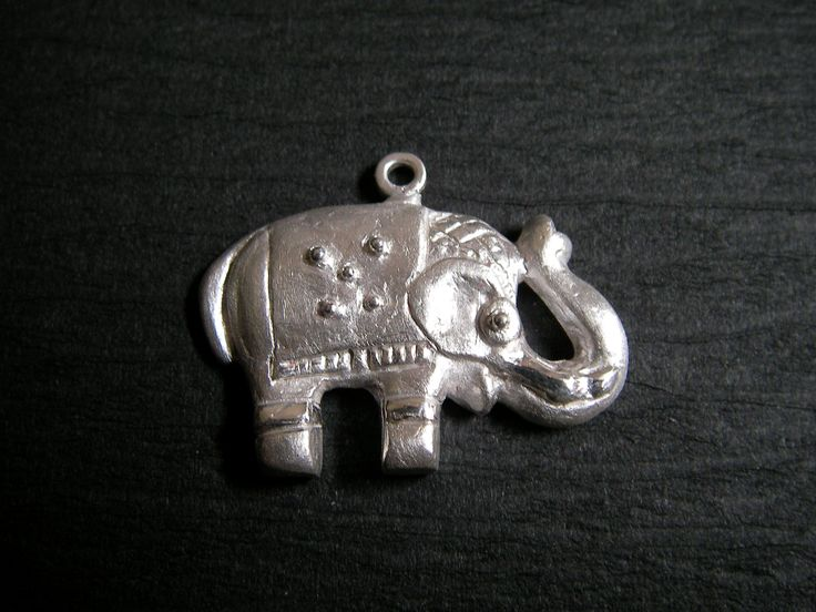 Elephant charm made from mold