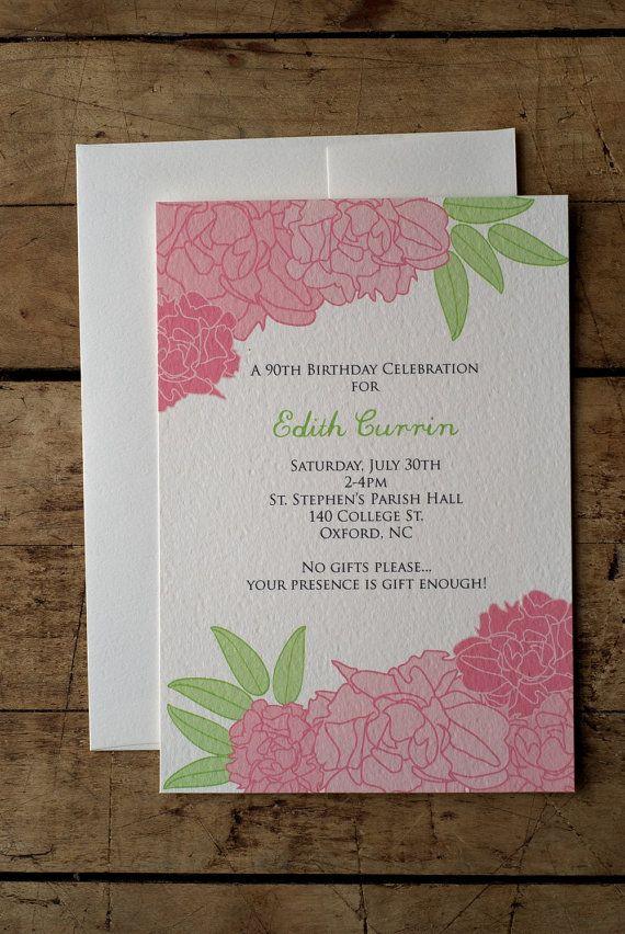 Pretty in Peony Wedding Invitation by LimeAndRuby