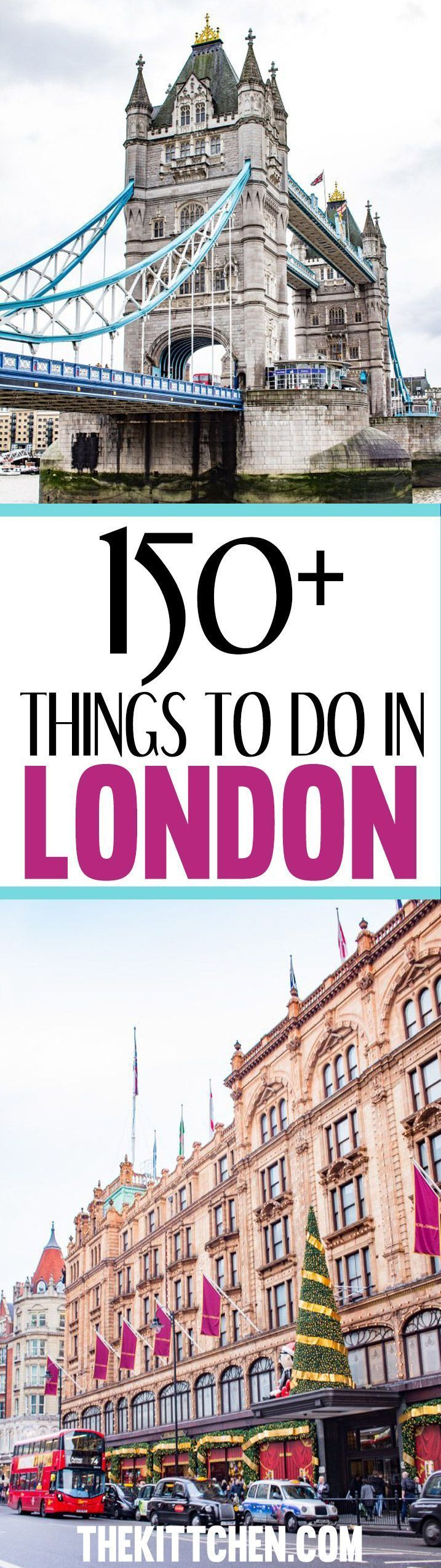 Traveling to London? You'll be able to fill your whole itinerary with the number of options in this post! #london #europe ***** London travel | Europe travel | Europe destinations | London England | Things to do in London | London travel guide | London travel tips | London must see | London must do | London museums | London day trips