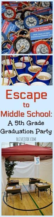 Flucht in die Mittelschule: Eine Abschlussfeier der 5. Klasse