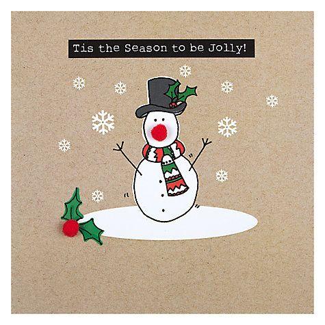 Buy Saffron Tis The Season Christmas Card Online at johnlewis.com