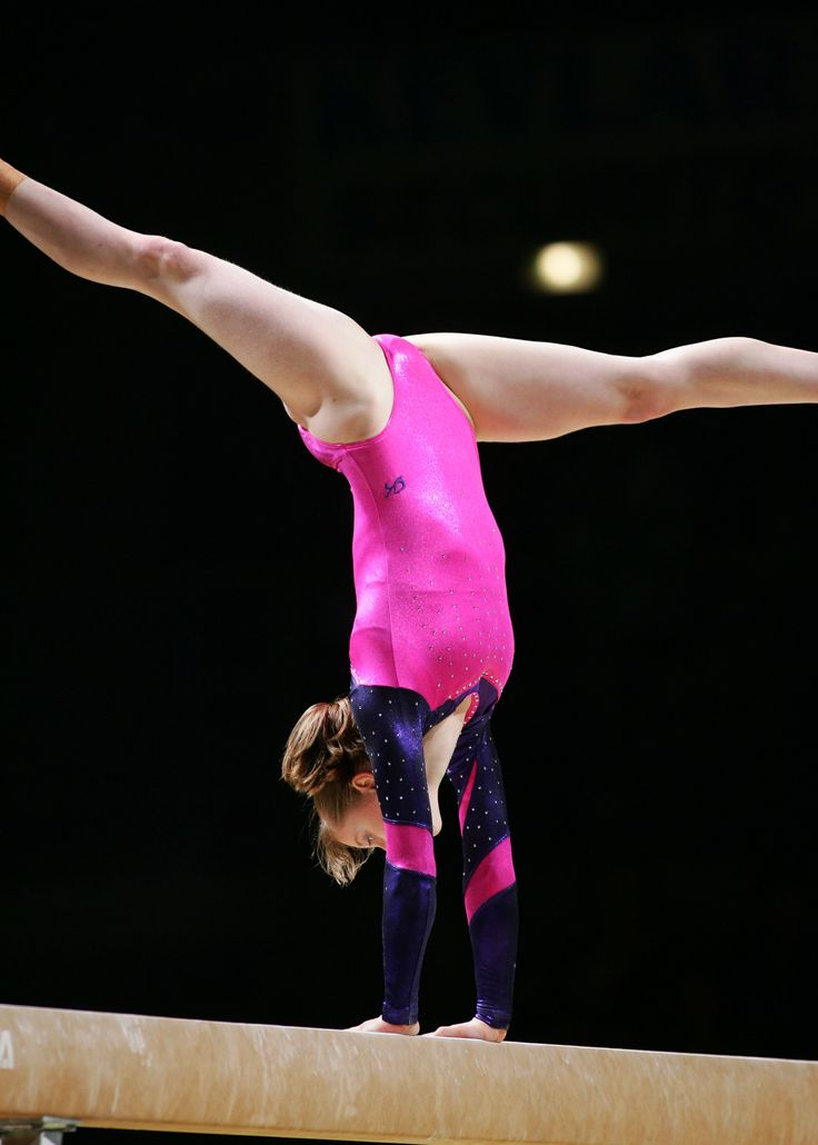 how to draw a gymnast on beam