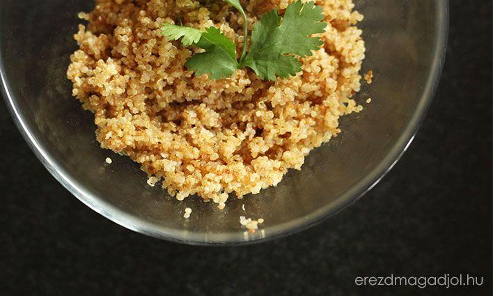 Sokszor készítek quinoa-t (ejtsd: kvinoa), mert egészséges köret és nagyon szeretjük. Bármely bio-, gyógynövényboltban és szerintem nagyobb boltokban beszerezhető - de nyugodtan írjátok meg kommentben, Ti hol szoktátok venni. Elkészítése nagyon egyszerű, és tökéletesen helyettesíthető …