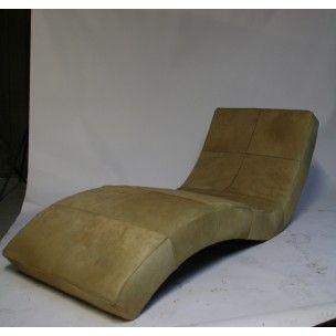 Chaise longue en cuir, Paola LENTI - années 80