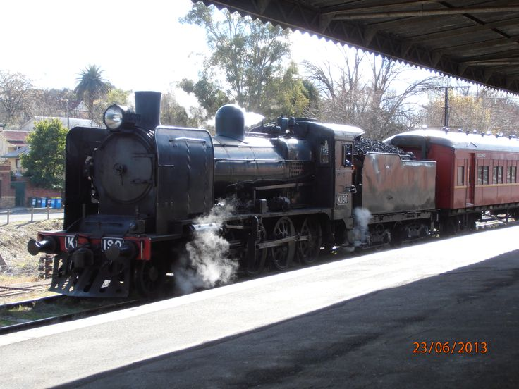 K190 at Castlemaine Station, Victoria, Australia by Catherine McPhie