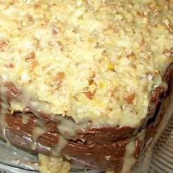 Cubierta de nuez para pastel alemán