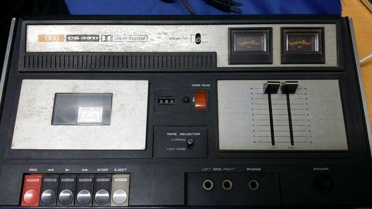 AKAI CS-33D CASSETTE TAPE DECK (1974-1975) VINTAGE **CHARITY AUCTION**
