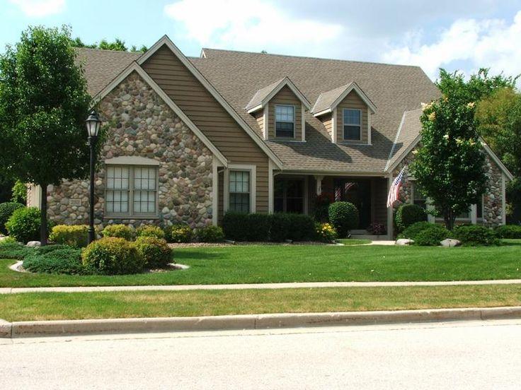 Choosing Exterior House Paint Colors : Exterior House Paint Colors With  Wall Stone. Home Decor Painting,house Painting,painting Home