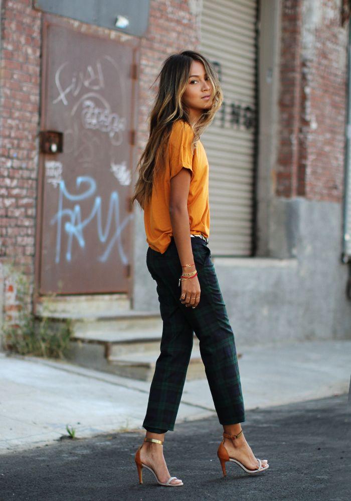 "Sincerely Jules blog ""Wearing: LOFT pants c/o |  Zara tee  |  Isabel Marant heels"""