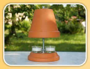 Teelichtofen - Heizkörper aus Tontopf und Kerze