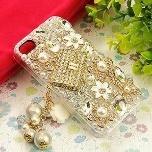 Bling White 3D Swarovski Crystal Fashion bag for iphone 5 case 03