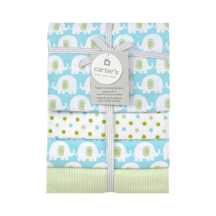 Carter S 4 Pack Receiving Blanket Elephant On Pinterest