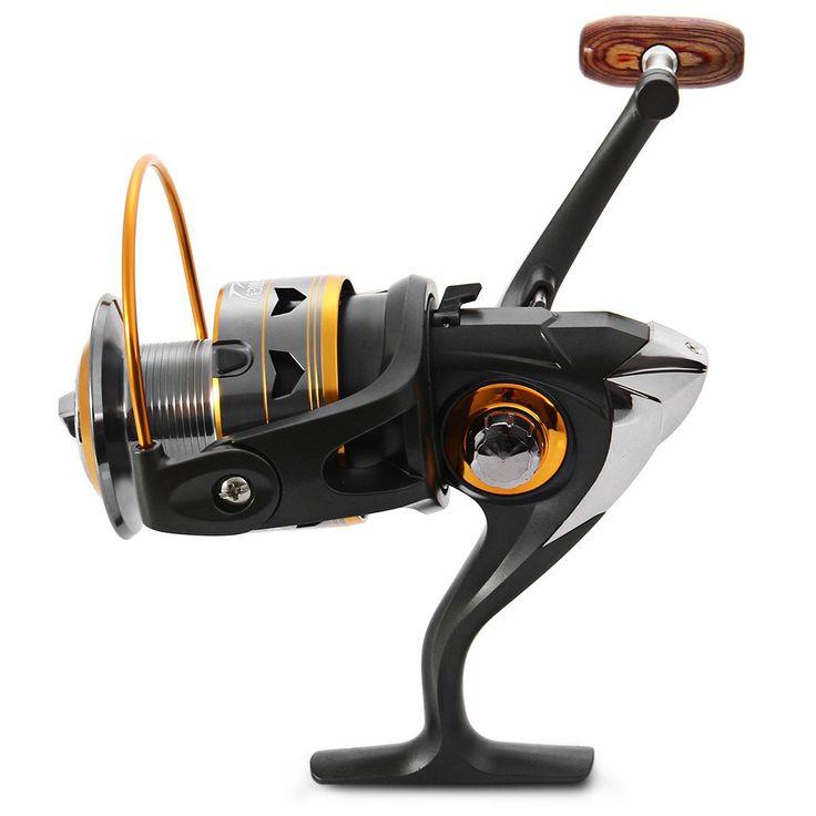 Gray Aluminium DK - 3000 DK - 1000 Spinning Fishing Reel 11BBs 5.2 : 1 Fishing Reel Spinning Exchangable Foldable Fishing Reel