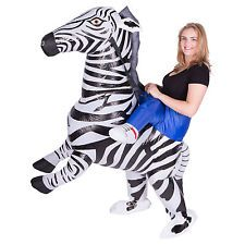 INFLATABLE ZEBRA FANCY DRESS COSTUME ZOO ANIMAL SUIT HEN STAG OUTFIT
