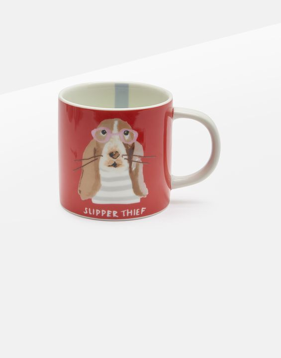 Joules Kitchen Cuppa Homeware Small Porcelain Printed Orange Dog