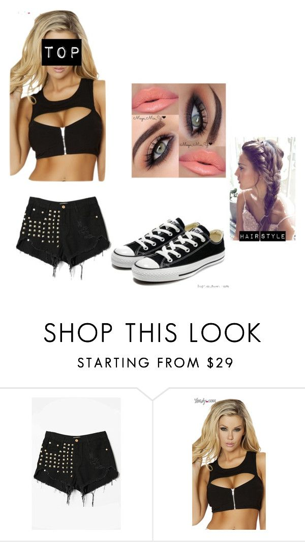"""WWE ring gear"" by mrshollyambrose ❤ liked on Polyvore featuring Converse and WWE"