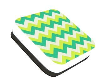 Chevron Square Magentic Whiteboard Eraser by Renewing Minds - Inspired by the sweet shades and pleasant patterns of eras gone by, our exclusive Retro Chic collection combines the best of vintage charm with a modern, shabby chic flair. Deck out your #classroom with Retro Chic for a look that's slightly imperfect, delightfully eclectic, and indisputably unique – just like you!