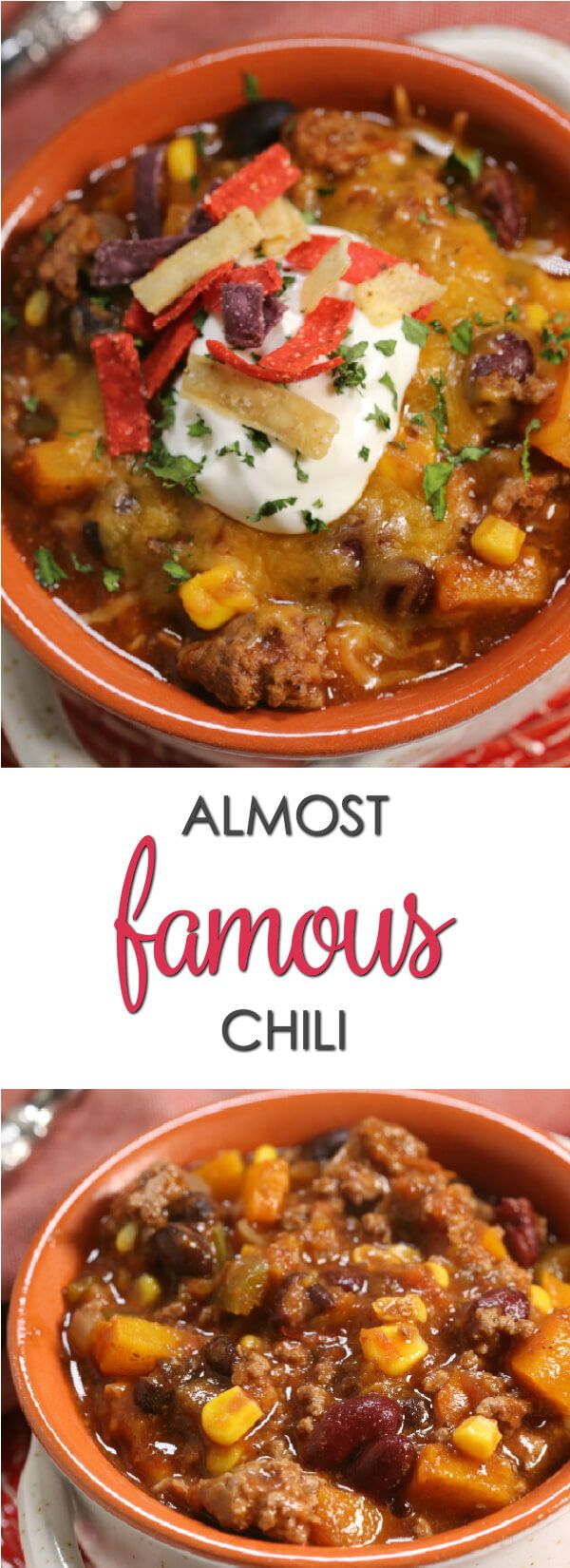 This Almost Famous Chili is one of the world best chili recipe ever. It's thick, hearty and loaded with goodness. (ad) #ProjectEnvolve #recipe