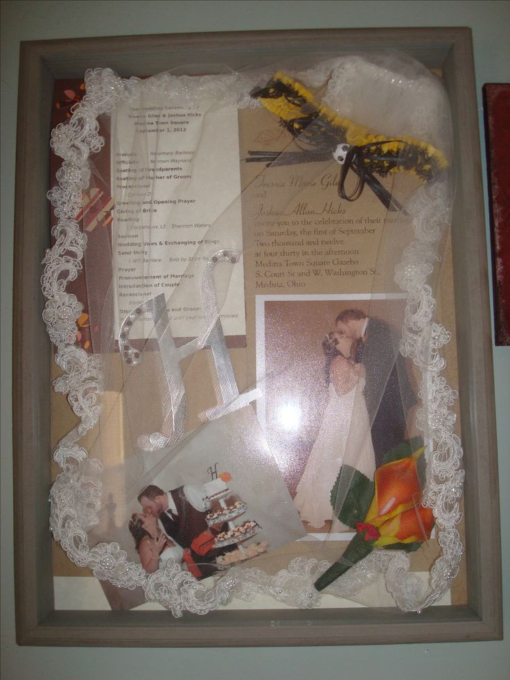 63 best wedding ideas images on Pinterest Wedding shadowbox