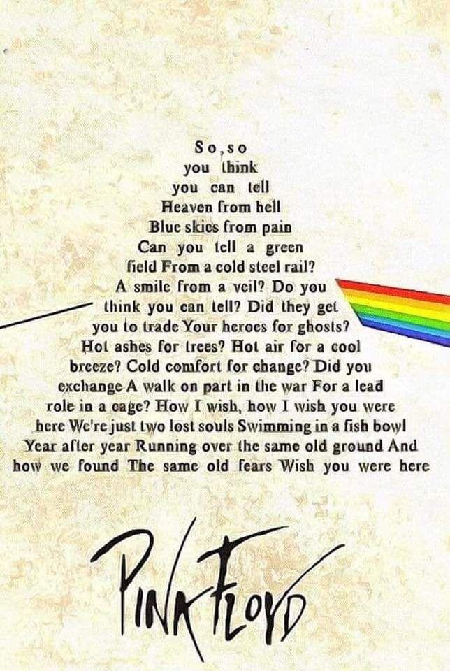 Lirik Wish You Were Here Pink Floyd : lirik, floyd, Here.., Floyd, Lyrics,, Classic, Wallpaper