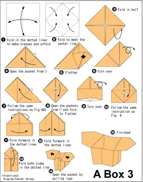 Simple Origami Pencil Holder