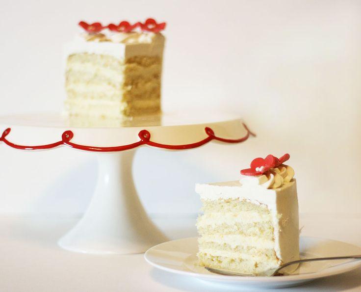 white velvet cake with cheesecake filling