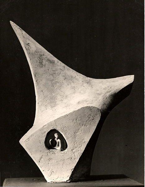 Maquette du monument à Antoine de Saint-Exupéry du sculpteur Marcel Mayer 1959