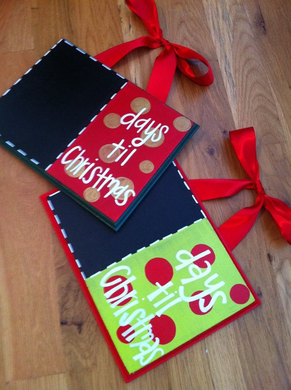 Days+til+Christmas+chalkboards+by+TwirlingBrushes+on+Etsy,+$26.00