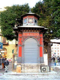 Chiosco Ribaudo, in art nouveau style, designed by Ernesto Basile, Palermo, Sicily.