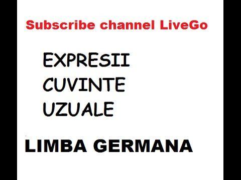 Limba Germana - Expresii elementare - YouTube