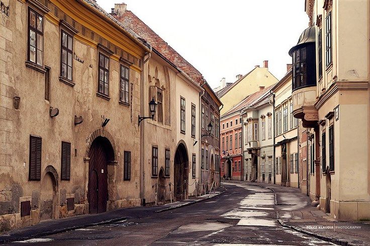 Historic streets of Sopron #Hungary