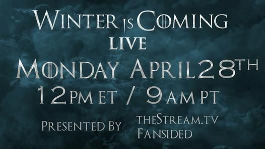 Talk about the latest episode of Game of Thrones Season on Winter is Coming LIVE only on Dailymotion