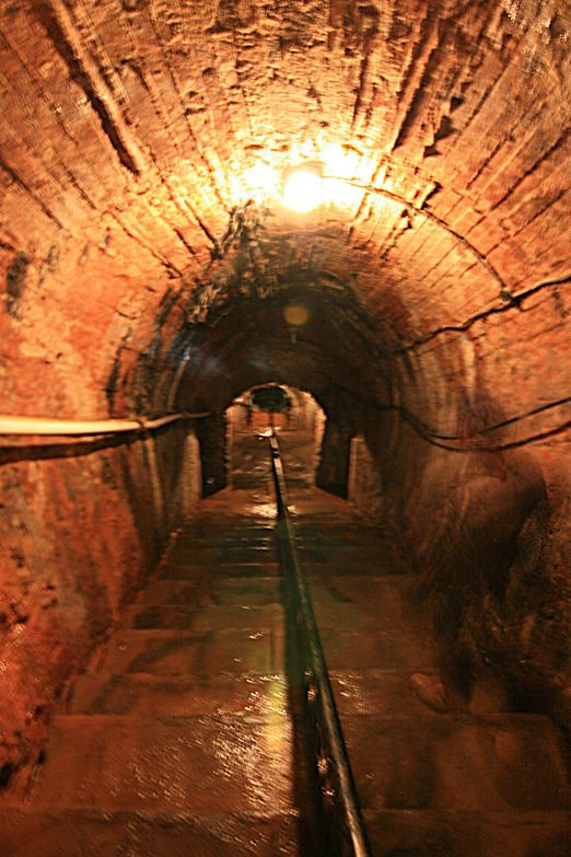 Mbah Soero Mining Tunnel in Sawahlunto. This coal-mining tunnel was first opened in 1898 by the Dutch; it once employed ...