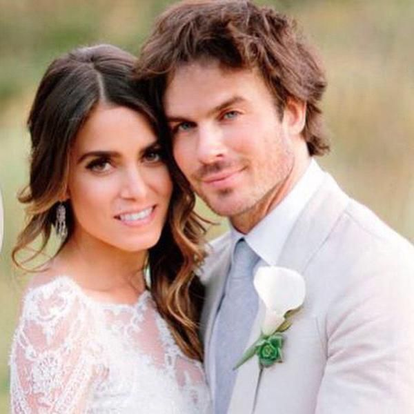 Happily married husband and wife: Ian Somerhalder and Nikki Reed at their wedding ceremony