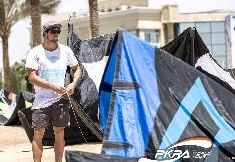 Day 2 at The Red Sea Kitesurf World Cup 2014. Total focus on the task ahead.  #PKRA #MarcJacobsKiteboarding