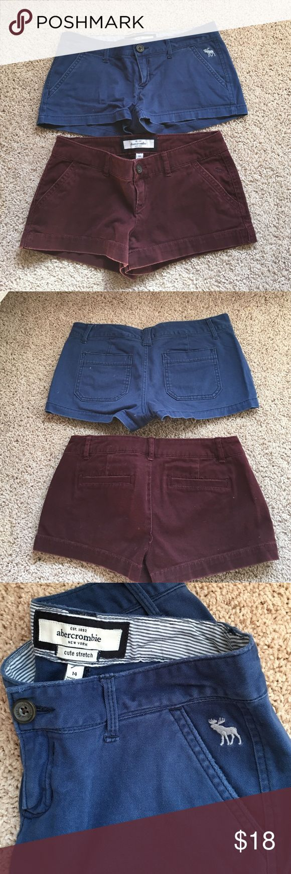 Abercrombie girls shorts sz14 ladies 00 Abercrombie girls cute stretch shorts size 14 or ladies 00. Blue and maroon. Good condition selling as a bundle willing to separate. abercrombie kids Shorts