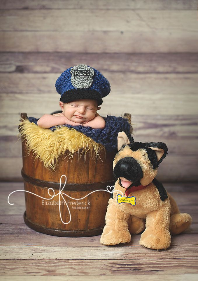 newborn photography with police officer daddy - Google Search