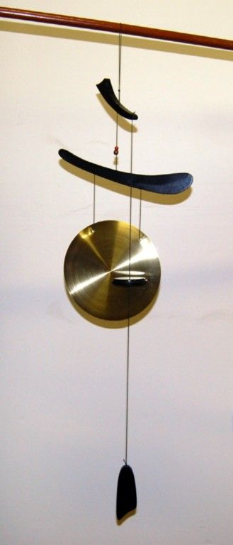 asian wind chimes | Details about CHINESE BRASS GONG WIND CHIME Feng Shui Garden Asian