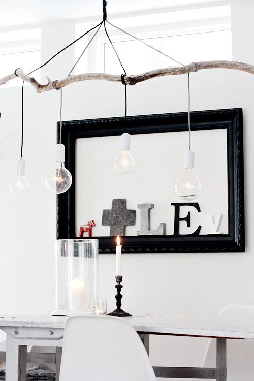DIY Branch Pendant Light