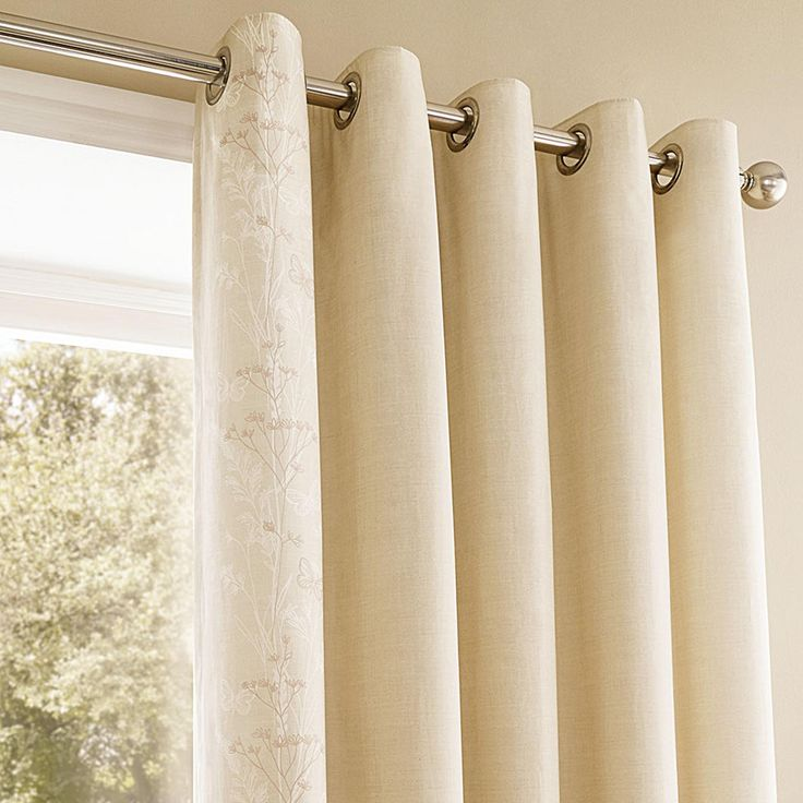 Pasture Natural Thermal Eyelet Curtains | Dunelm