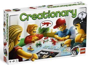 LEGO Creationary Game *** A great game for family and friends to test your imagination, creativity, building and guessing skills to the max.