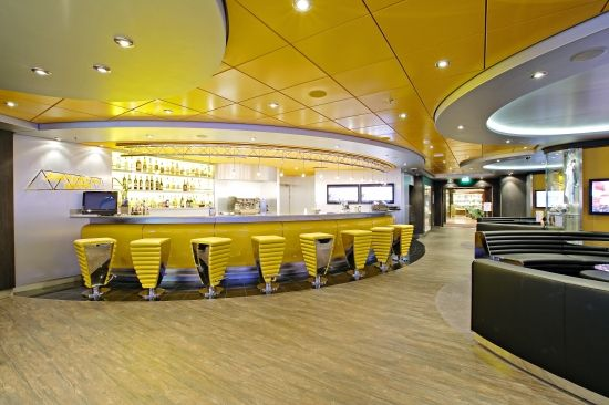 MSC Splendida - Sports Bar - Our mini ten-pin bowling alleys don't require a change of shoes and have been scaled down with smaller-sized bowls suitable for youngsters whilst still presenting a challenge for all.    Large screens with animated Ten Pin Tour and Turkey Shoot complete the ambiance!