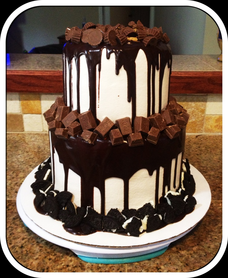 Chocolate Heaven Birthday Cake! Bake Your Day, LLC - Alexandria, LA www.facebook.com/bakeyourdayllc