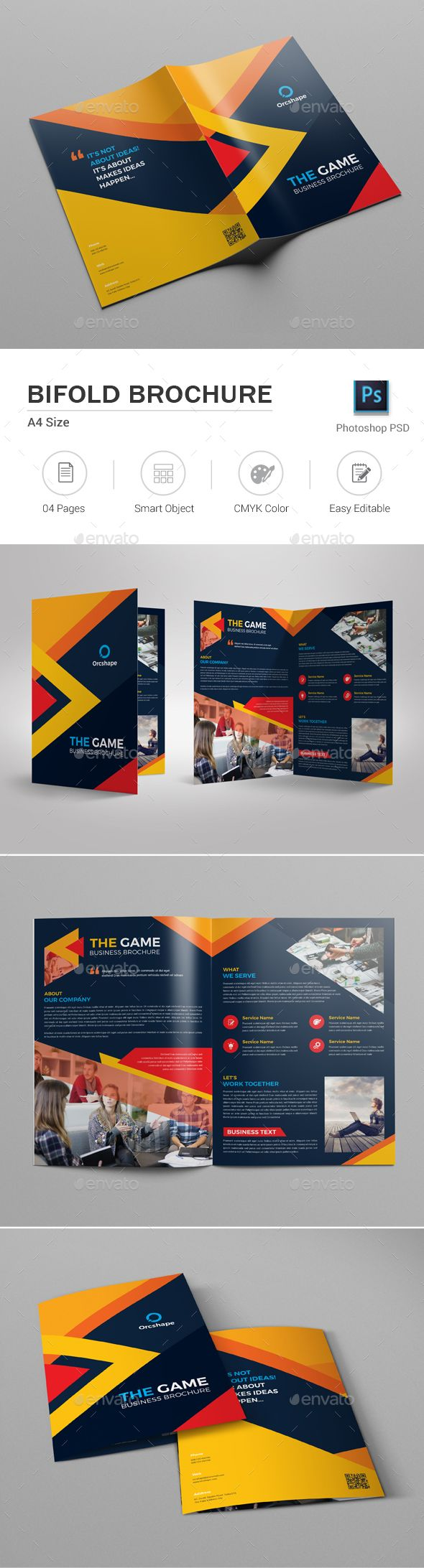 Bifold Brochure — Photoshop PSD #business #office • Download ➝ https://graphicriver.net/item/bifold-brochure/19660320?ref=pxcr