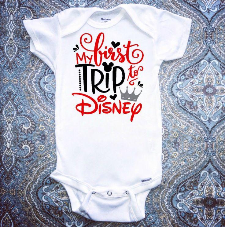 First Disney Trip Onesie, Baby Boy Onesie, Baby Girl Onesie, Disney Onesie by MiniMagnoliaBoutique on Etsy https://www.etsy.com/listing/539537269/first-disney-trip-onesie-baby-boy-onesie
